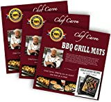 Bundle of 3 Sets - BBQ Grill Mat by Chef Caron - Each Set with Two Heavy-Duty Grilling Sheets - Nonstick, Ultraslick, Extra Thick 25mm