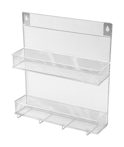 YBM Home Spice Rack 2 Tier With Hooks(W'11.3/4 L'12.3/4 Depth'4 Inch With The Hooks) by Ybmhome (Image #1)'