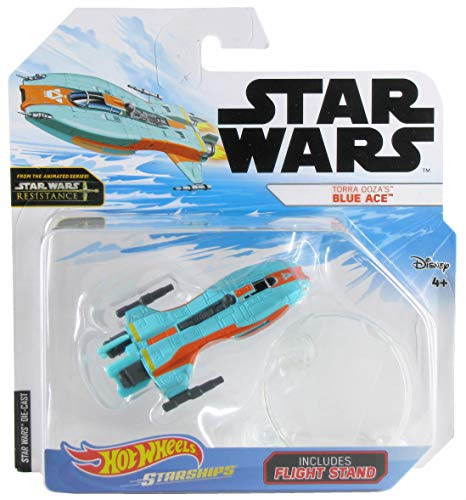 Star Wars Starship - Hot Wheels Star Wars Starships Resistance Torra Doza's Blue Ace