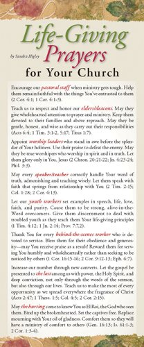 Read Online Life-Giving Prayers for Your Church 50-pack (Prayer Cards) PDF