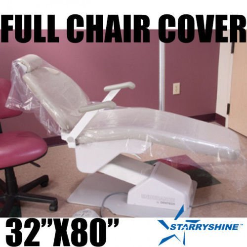 Starryshine DENTAL CHAIR COVERS (FULL CHAIR) 32'' x 80'' CLEAR PLASTIC BOX OF 125 PCS