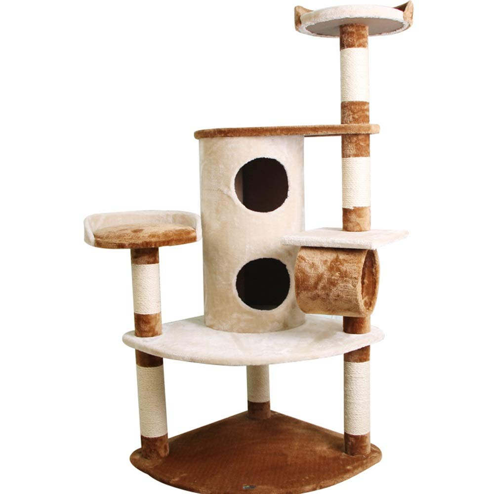Coffee color Xuan Yuan Large sisal cat Tree Fashion Luxury cat Climbing Frame Jumping Board Grabbing pet Toy pet nest 2 colors Optional Cat Tree (color   Coffee color)