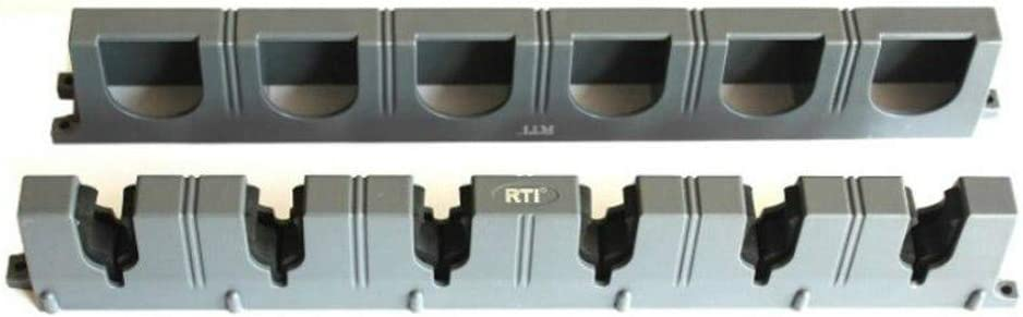 Angelrute Rack Wandmontage Kunststoff Angelrute Display Fixed Frame Lagerregal Halterung Reel Combos Halter Vertical Truss Schwarz