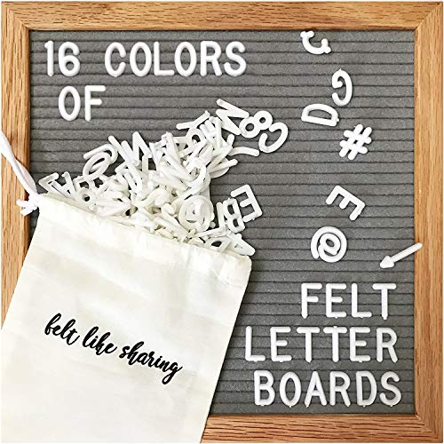 Gray Felt Letter Board 10x10 Inches. Changeable Letter...