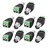 uxcell 10 Pc Screw Terminal Coaxial Cat5 to BNC Female Video Balun Connector