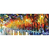 Ruifengsheng Extended Gaming Mouse Pad XXL Mouse Mat Large Mouse Pad Non-Slip Professional Precision Tracking Surface (31.5'' x 15.7'')90x40 (90x40 Forest018)
