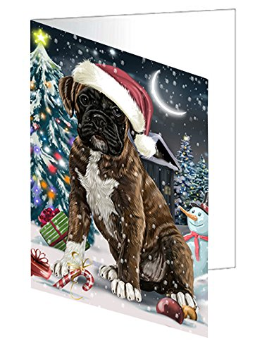 Have a Holly Jolly Christmas Happy Holidays Boxer Dog Greeting Card GCD2290 (20) (Boxer Dog Greeting Cards)