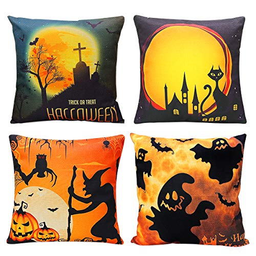 Give your old pillows a festive look for Halloween