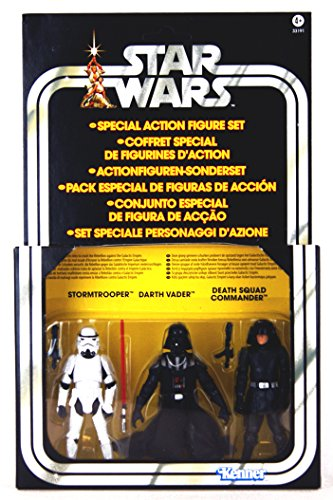 Kenner Star Wars A New Hope Special Exclusive Action Figure 3Pack Villain Set Stormtrooper, Darth Vader, Death Squad Commander by Star (Action Figure Stormtrooper Commander)