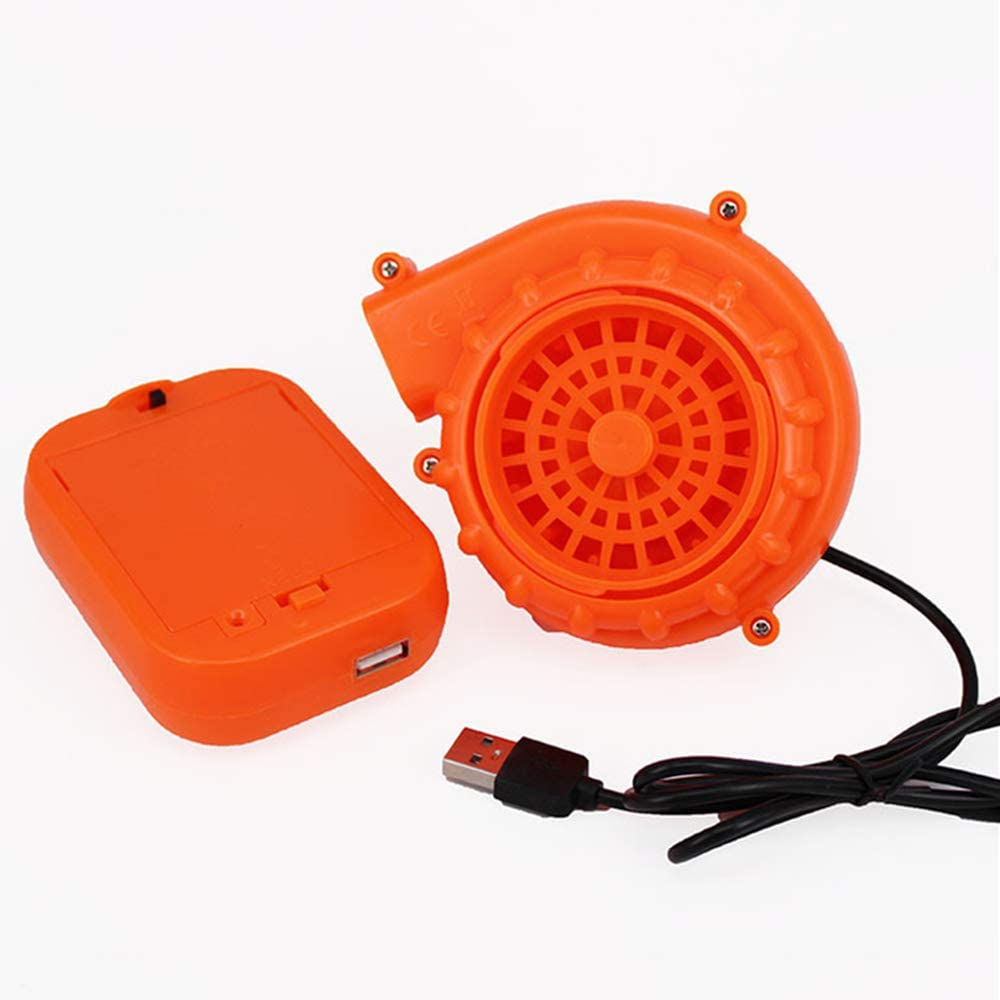 Mendom Originals Fan Mini Fan Blower for Dinosaur Costume Doll Mascot Head or Other Inflatable Game Clothing Suits,Orange(Upgraded Version)