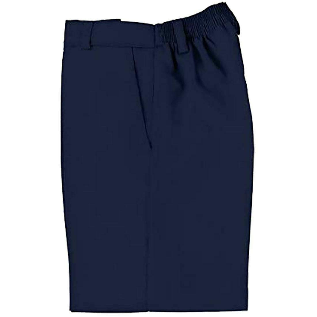 Fashions island Children Two Side Pockets Black Grey Navy Zip and Clip Uniform Shorts 3-16 Years