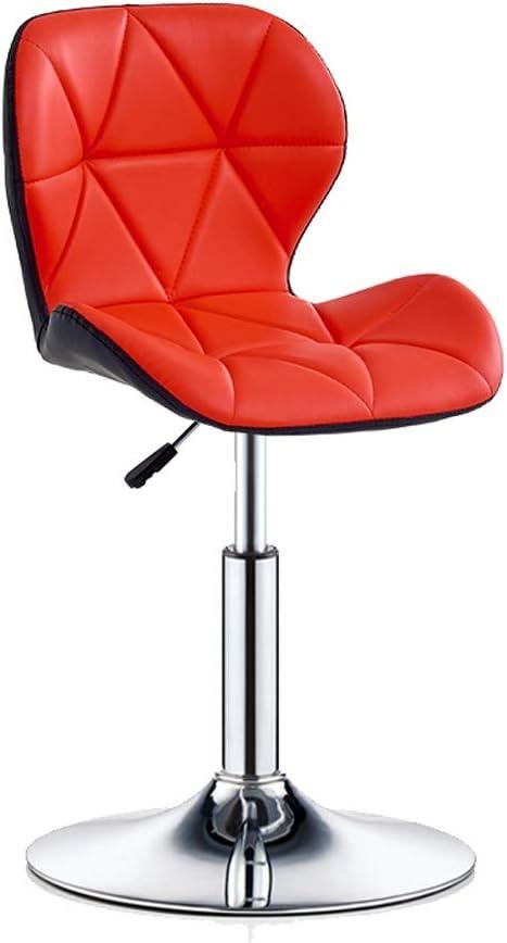 WDX- Barkruk Barkruk Fashion Creative Staafstoel Thuis rugleuning High Chair Lift Barkruk Rotating Hoge Kruk Ontbijt Kruk Restaurant Lift Kruk Comfortabel (Color : Blue) Red