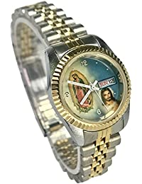 Reloj de Mujer Swanson Japan Watch Womens Day-Date Tow-Tone Con La Virgen