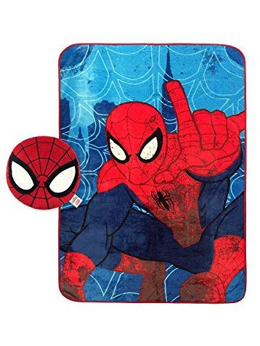 Marvel Spiderman Classic Plush Nogginz Pillow and Blanket 2 Piece Set