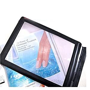 Enshey A4 Full Page Magnifier Hands-free 3X Magnifier Handheld Reading Aid Magnifying Glass Lens Perfect for Reading Books & Newspapers &Low Vision Aids Large Sheet Magnifying
