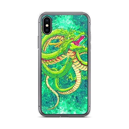 iPhone X/XS Case Anti-Scratch Japanese Comic Transparent Cases Cover Dragon God Anime & Manga Graphic Novels Crystal Clear