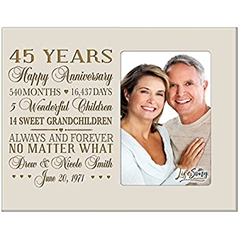amazon com personalized 45th year wedding anniversary frame gift