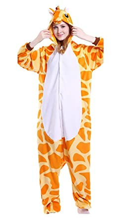7af0ddacab8ac Pyjama Unisexe Costume Cosplay Combinaison Animal en Flanelle pour Carnaval  Déguisement (S