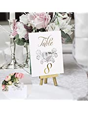 YiYLunneo 20 Blank Place Cards,Seating Place Cards for Tables,Heart-Shaped Hollow Table Cards for Wedding or Party,Scored for Easy Folding
