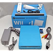 Nintendo Wii Limited Edition Blue Video Game Console Home System RVL-101