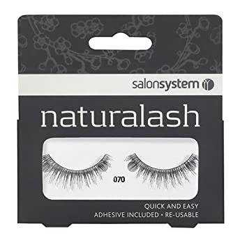 30008630f5a Amazon.com : Salon System Naturalash Quick and Easy Re-Usable Black 070  Lashes : Beauty