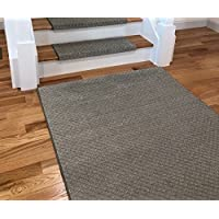 Tread Comfort Padded Adhesive Bullnose Stair Treads, Runners & Rugs Collection (Rug 3 by 5, Gray Diamond)