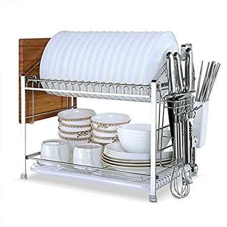 Support de rangement de baguettes en acier inoxydable porte-couverts de cuisine organisateur de vaisselle M
