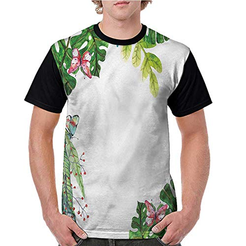 Female Tops,Tropical,Exotic Orchid Butterflies S-XXL Men Personalized T-Shirt O-Neck