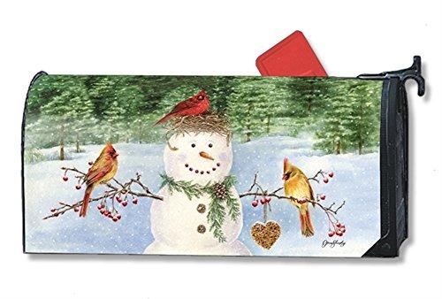 OS Snowman Birdfeeder Mail Box Wrap magnetic mailwrap mailbo