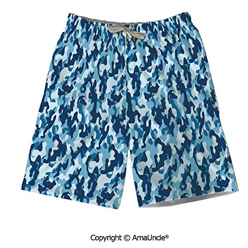 Customized Men's Draw-String Beach Shorts,Military Infantry Marine Troops Costum