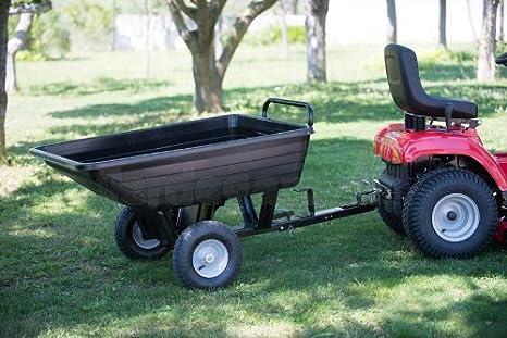 Carrello Da Giardino Usato : Carrello trainato per trattorino vasca in plastica amazon