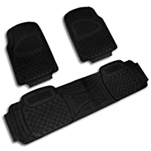 Black All Weather Heavy Duty Jeep Suv 3D Pvc Rubber Floor Mats Front+Rear