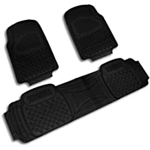 Spec-D Tuning MAT-3001BLK Floor Mat (Pvc 3D Print Black 3 Pieces)