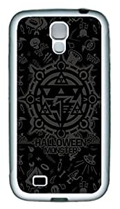Galaxy S4 Case, Personalized Custom Protective Soft Rubber TPU White Edge Halloween Bg02 Case Cover for Samsung Galaxy S4 I9500
