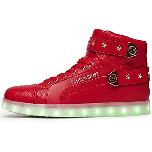 Luminous shoes, lovers' sports shoes are the most special gifts for Valentine's day, Christmas, Halloween and other festivals.(Red 42/11 B(M) US Women / 8.5 D(M) US (Nc Halloween Festivals)