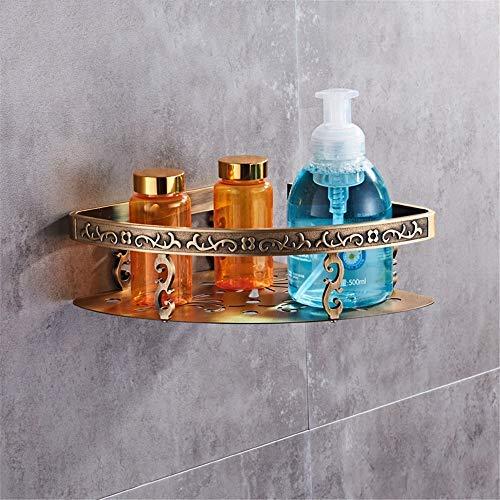 Single Layer Triangle Basket BAIF TowelRackQX Bathroom Shelf,European Antique Bathroom Space Aluminum Metal Pendant Bathroom Rack Set Double Rack