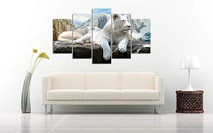 Munulo Art Mural Pour Salon Peinture Murale Art Déco Lion