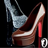 Oggibox 3D 6'' x 6.75'' x 2.5'' Platform Stiletto Polycarbonate (PC) Chocolate and Candy Heels Mold for Wedding, Decorating or Home Baking Tools (Transparent 6.75 inch)