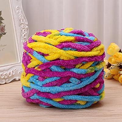 Ovillo de lana para tejer, 100 g/1 bola, de algodón suave, tejido grueso y grueso, tejido de ganchillo: Amazon.es: Juguetes y juegos