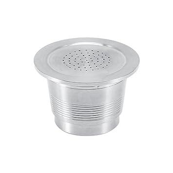Filtro de café - Filtro de café reutilizable verter sobre café de acero inoxidable para la máquina Nespresso, 4.5-5g, con 1 cuchara de plástico
