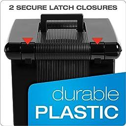 Oxford Portfile Large Portable File Box, Black, 11\