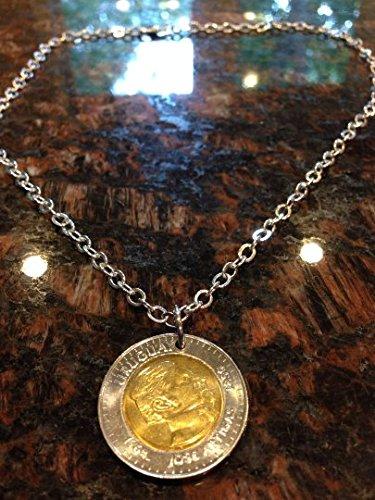 Uruguay 10 pesos coin necklace