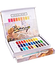 Bianyo Watercolor Paint Set - 30 Assorted Colors Upgrade Paints - With Watercolor Paper,Brushes,Water Brush Pen for Adult&Kids