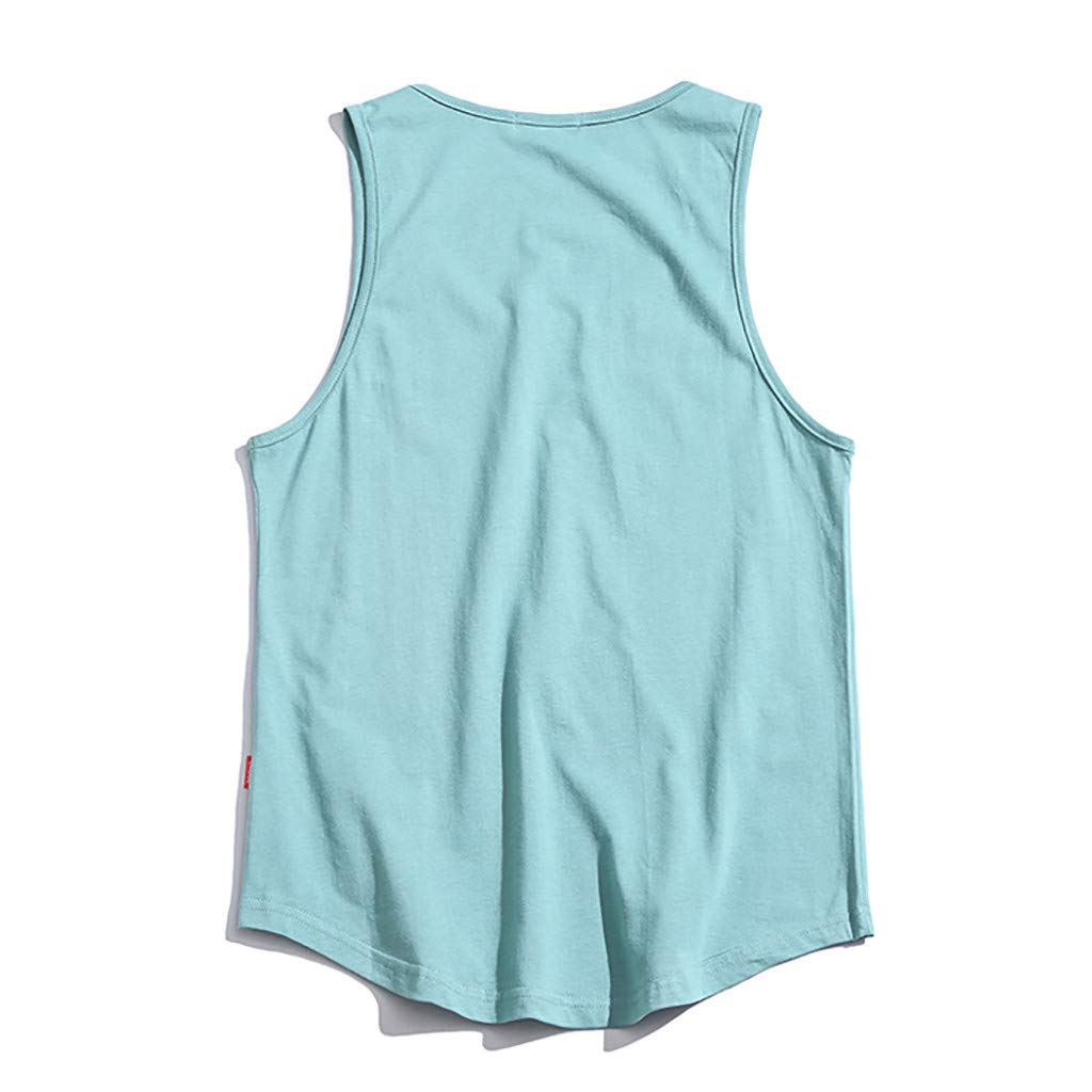 Men Summer Tank Top Casual Sleeveless Shirt Fashion Quick-Drying Sports Vest O-Neck Simple Running Daily Wear
