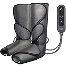 Leg Air Massager for Foot And Calf Circulation Massage with Handheld Controller 3 Intensities 2 Modes(Dark Gray)