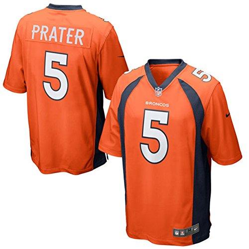 Matt Praters 5 Mens Football Game Jersey Orange Size XXL(52)