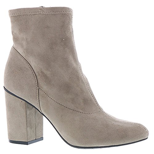 Kenneth Cole REACTION Women's Time For Fun Sock Shaft High Heel MI Ankle Bootie, Putty, 7.5 M US