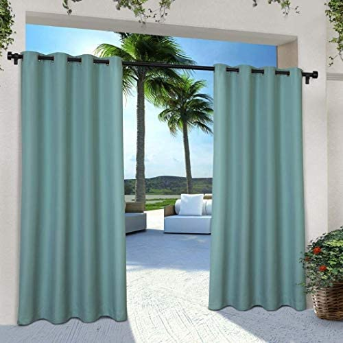 NA 2 Pieces 108 Inch Teal Color Gazebo Curtains Set Pair