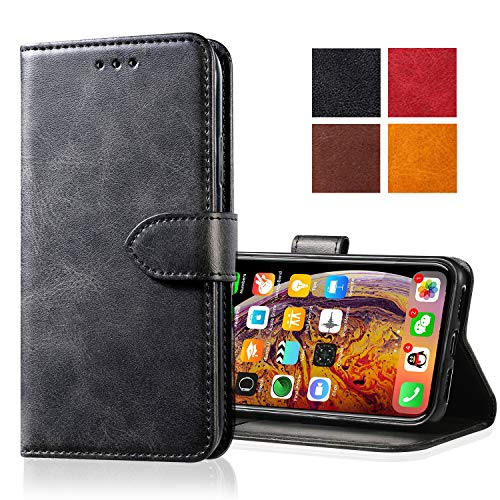 Yonader Apple iPhone 6s Plus/6 Plus Leather Case,Leather Wallet Case [Kickstand] [Card Slots] [Magnetic Closure] Flip Notebook Cover Case for Genuine Apple iPhone 6s Plus/6 Plus (Black)