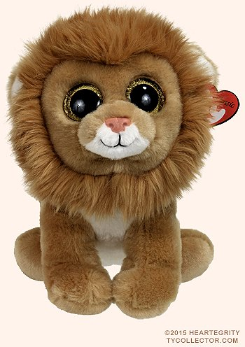 Ty Classic Beanies Louie the lion 25cm Medium Buddy Size 9''